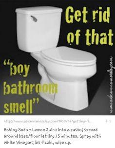 Get rid of boy bathroom smell