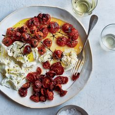 Buffalo Mozzarella with Neat and Messy Roasted Tomatoes   Food & Wine