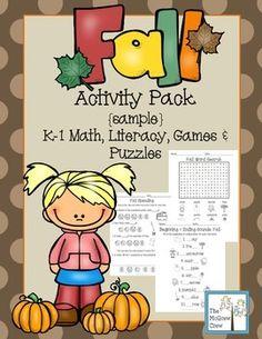 FREE! Fall Activity Pack {sample set}