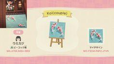 Custom Designs - Animal Crossing: New Horizons Animal Crossing Wild World, Animal Crossing Guide, Animal Crossing Villagers, Animal Crossing Qr Codes Clothes, Koi Pond Design, Path Design, Deck Design, Landscape Design, Garden Design