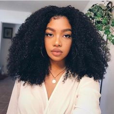 Lace Front Wig Curly Brazilian Human Hair Density Afro Kinky Curly Wigs For Blackwomen Black Color Afro Hair Style, Curly Hair Styles, Natural Hair Styles, Ponytail Styles, Natural Hair Weaves, Braid Ponytail, Pelo Natural, Natural Curls, Natural Baby
