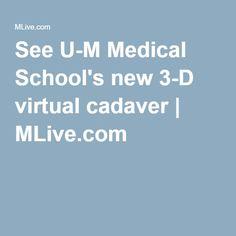 See U-M Medical School's new 3-D virtual cadaver | MLive.com