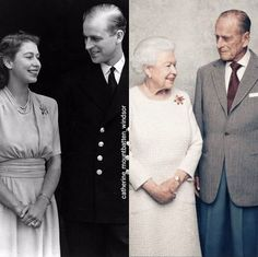 The Queen & her Prince - Newlyweds & celebrating 70 years of marriage