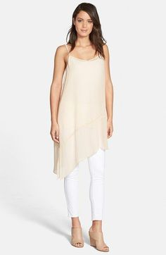 c12cb0daef Eileen Fisher Asymmetrical V-Neck Silk Tunic