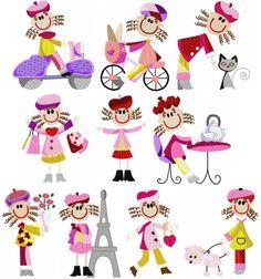 Paris Stick Kids #stickkids #paris #embroidery