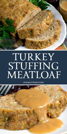 Turkey Stuffing Meatloaf has all of the delicious flavors of your favorite Thanksgiving stuffing in meatloaf form! Turkey Stuffing Meatloaf has all of the delicious flavors of your favorite Thanksgiving stuffing in meatloaf form! Meat Recipes, Chicken Recipes, Cooking Recipes, Healthy Recipes, Amish Recipes, Dutch Recipes, Cooking Games, Cooking Food, Cooking Classes