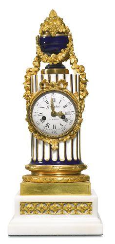A Louis XVI porcelain, ormolu and white marble mantel clock, Germain Dubois, Paris, circa 1780   Lot   Sotheby's