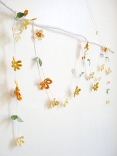 NEW crochet flower garland Molly  yellow and orange by emmalamb, £45.00