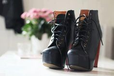 modern black winter bots with wedges
