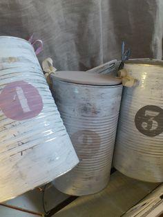 boites de conserves patinées + jolie idée de couvercle - *** l' Atelier de Zélie ***