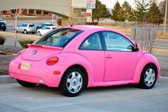 Pink VW Beetle @Katie Schmeltzer Potts