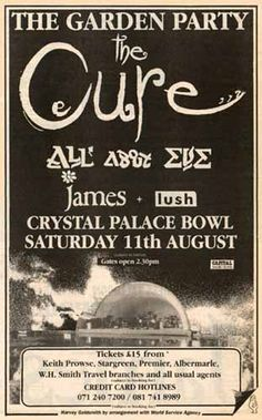 All The Cure concert dates and setlists. The Cure concert Tickets, Adverts, Stories, Details and Trivia Tour Posters, Band Posters, Music Posters, The Cure Live, The Cure Concert, Me Against The World, Punk Poster, Pizza Art, Music Flyer