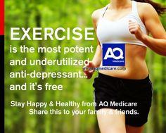Exercise is the most potent and underutilized anti-depressant.. #exercise #fitness #health #aqmedicare