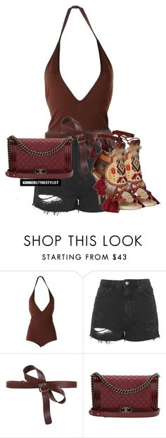 """""""Untitled #2481"""" by whokd ❤ liked on Polyvore featuring Givenchy, Topshop, Dsquared2, Chanel, women's clothing, women, female, woman, misses and juniors"""