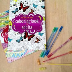 """LOVING my new """"Colouring Books for Adults"""". Oh it is nice to have some colourful """"down time"""", without the pressure of creating. Check them out. Great for tweens and teens too!"""