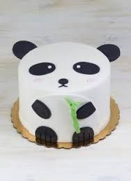 Image result for panda fondant cake