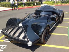 "STRANGE ""DARTH VADER"" CUSTOM CAR - SCARY STAR WARS VEHICLE"