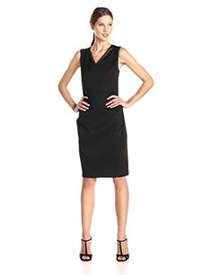 T Tahari Women's Ronnie Stretch Cotton Sheath Dress, Black, 6 T Tahari http://www.amazon.com/dp/B00SB45GRY/ref=cm_sw_r_pi_dp_ujz8vb0H6D6WA