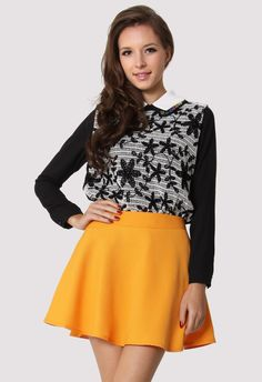 #Chicwish Double Peter Pan Collar Daisy Crochet Top - Tops - Retro, Indie and Unique Fashion