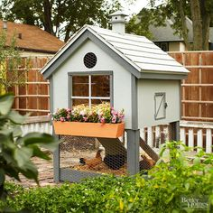 If raising chickens is an aspiration of yours, house your flock in this cute chicken coop. Download the plans and learn more from the link below./