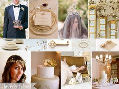 The Perfect Palette: {The Royal Wedding}: A Palette of Gold Leaf, Ivory & White @Holly Maserjian +blue?