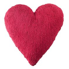Lorena Canals Washable Heart Pillow in Fuchsia - Nursery Pillows - Decor Heart Cushion, Heart Pillow, Lorena Canals Rugs, Knitted Heart, Little Unicorn, Washable Rugs, Fuchsia, Heart For Kids, Floor Cushions