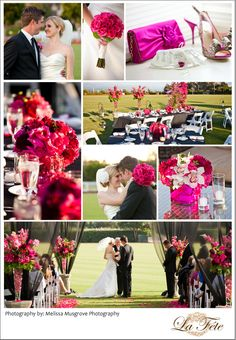 ~La Fete~: Pink, Black & White Wedding