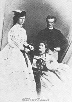 Sisi with her brother Karl Theodor & his wife Maria Braganza, Princess of Portugal