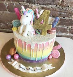 Unicorn rainbow drip cake #bcakeny