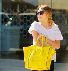 Yellow Celine bag