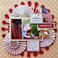 Layout: Freedom, Anna Griffin collection