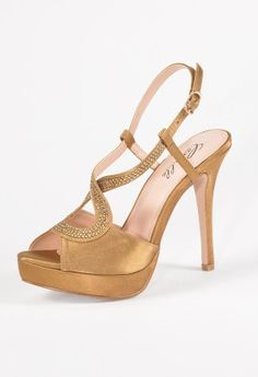 High Heel Satin Sandal with Rhinestone from Camille La Vie and Group USA