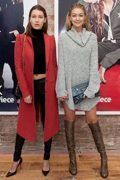 Bella-Hadid-Gigi-Hadid-Boots-Coat-Fashion