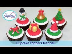 Christmas Cupcake Toppers /Cómo hacer figuras navideñas para cupcakes - YouTube