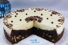 Tarta brownie y flan Ana Sevilla olla GM Flan, Gm Olla, Brownies, Cheesecake, Pudding, Cooking, Desserts, Chocolates, Instant Pot