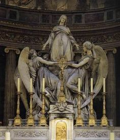The Ascension of Mary Magdalene. In the church of Magdalene in Paris France…