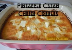 Weightloss, Recipes and DIY with Kari: Pineapple Cream Cheese Cobbler