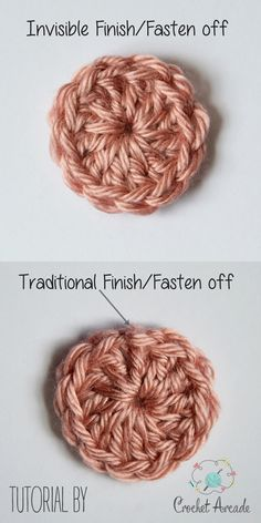 Crochet Diy Invisible Finish (fasten off) Tutorial Crochet Diy, Beau Crochet, Crochet Simple, Crochet Amigurumi, Tunisian Crochet, Crochet Basics, Crochet For Beginners, Love Crochet, Beautiful Crochet