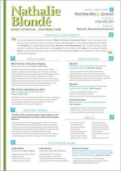 CV & RESUME DESIGNS by Michelle Makar Parker, via Behance