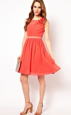 Vestidos formales color coral