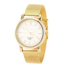 EUR € 8.63 - horloge van de vrouwen modieuze gouden geval legering band, Gratis Verzending voor alle Gadgets!