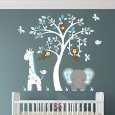 Jungle Themed Nursery (2) - Enchanted Interiors