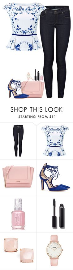 """Unbenannt #2965"" by cora97 ❤ liked on Polyvore featuring Citizens of Humanity, Hobbs, Furla, Gianvito Rossi, Essie, Chanel, Kate Spade and CLUSE"