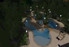 Swimming Pool Design Lazy River | Lazy River 3D Design