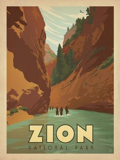 Zion new old style poster : : Anderson Design Group Studio Store : :