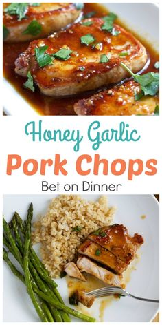 Recipe - Honey Garlic Pork Chops - Happy Home Fairy