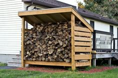 You want to build a outdoor firewood rack? Here is a some firewood storage and creative firewood rack ideas for outdoors. Outdoor Firewood Rack, Firewood Shed, Outdoor Storage, Indoor Firewood Storage, Firewood Holder, Storage Building Plans, Storage Shed Plans, Storage Area, Backyard Sheds