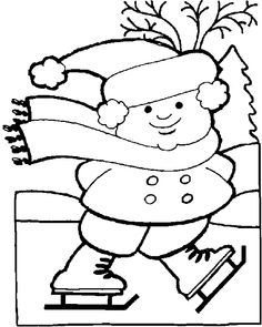winter coloring pages kindergarten winter holiday coloring pages winter holiday skating coloring page