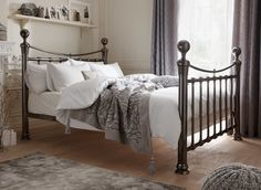 If you're looking for a grand superior bed, the Nelson metal bed frame is your bed.
