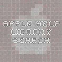 apple Help Library Search